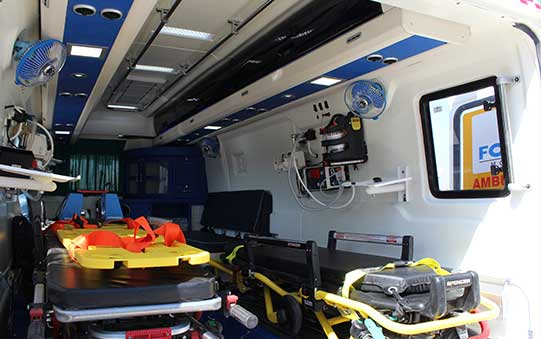 PSV Modified Force Traveller Ambulances Interior View