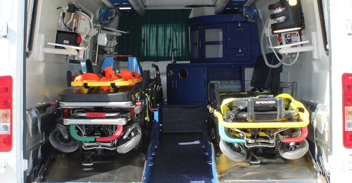 PSV Modified Force Traveller Ambulances Multiple Strechers