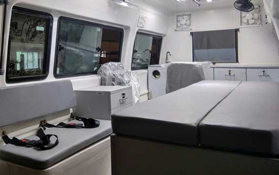 PSV Modified Force Traveller Animal ambulances Interior