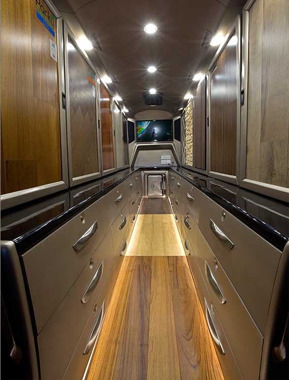 PSV Modifed Force Traveller Showroom on Wheels Design