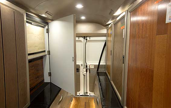 PSV Modifed Force Traveller Showroom on Wheels Interior Modification