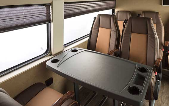PSV Opisia Modified Tempo Traveller Business Vans Interior Executive Workdesk