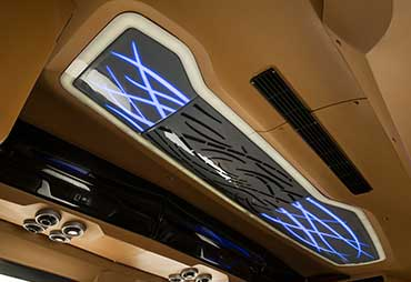 PSV Opisia Modified Tempo Traveller Business Vans Interior Lighting