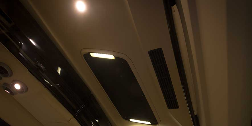 PSV Opisia Modified Tempo Traveller Business Vans Interior Lightings