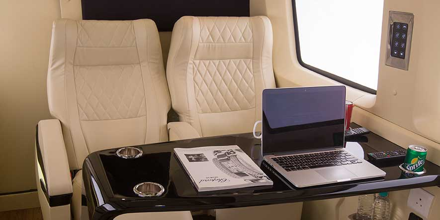 PSV Opisia Modified Tempo Traveller Business Vans Interior WorkDesk