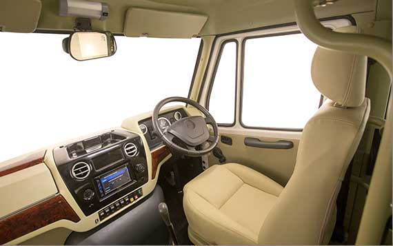PSV Modified Tempo Traveller Dashboard Beige