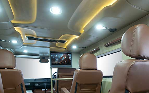 PSV Modified Tempo Traveller Interior Lighting