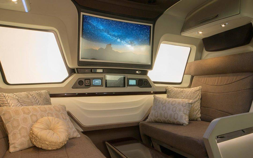 Curbed: Sleek RV Expands to Reveal Jet-like Interiors
